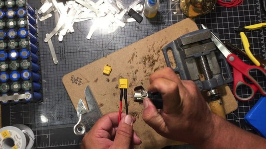 Soldering the Power Connector for the Amp and Battery