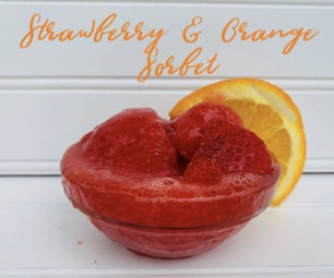 DELICIOUS Strawberry & Orange Sorbet