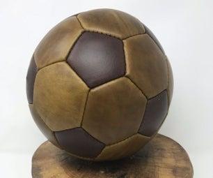 使自定义皮革足球(FUTBOL的伙计不在美国)