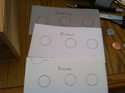 Step 3: Trace the Coin Slots