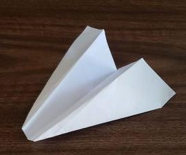 简单的平鼻纸飞机