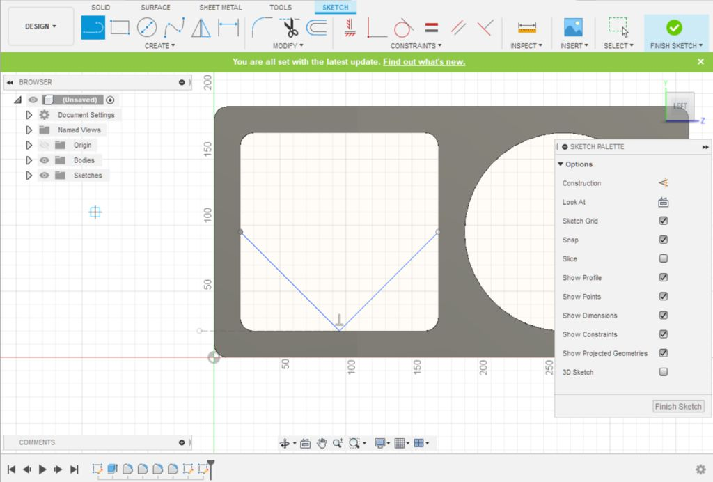 Picture of Fusion 360 Design: Sketching the Back Retaining Walls