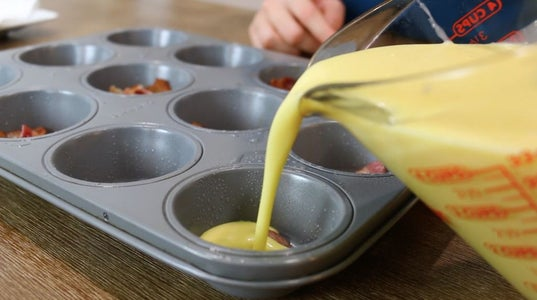 Fill Muffin Tins
