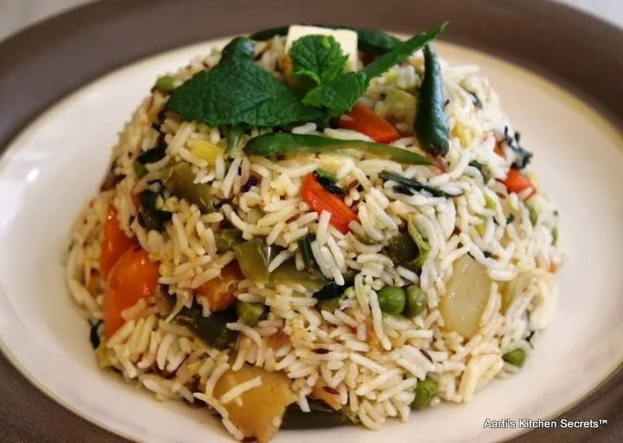 Picture of For Veg Pulav With Mint ;