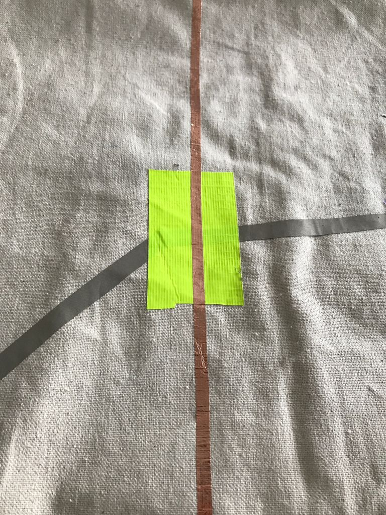 Picture of Connect Pathways With Conductive Tape and Insulate With Masking Tape