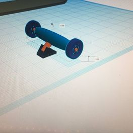 Picture of Set Up the Wheel and Connect It With the Bracket Through the Shaft