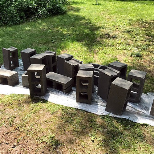 Picture of Clean the Cinder Blocks: