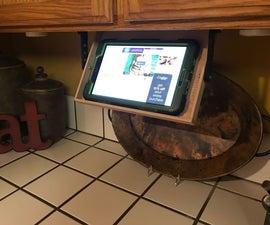 Under Cabinet Hideaway Tablet Shelf