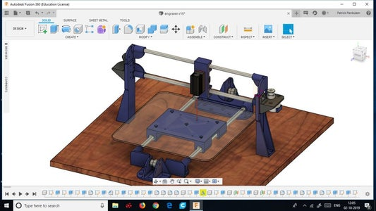 DESIGNING THE LASER ENGRAVER IN FUSION 360