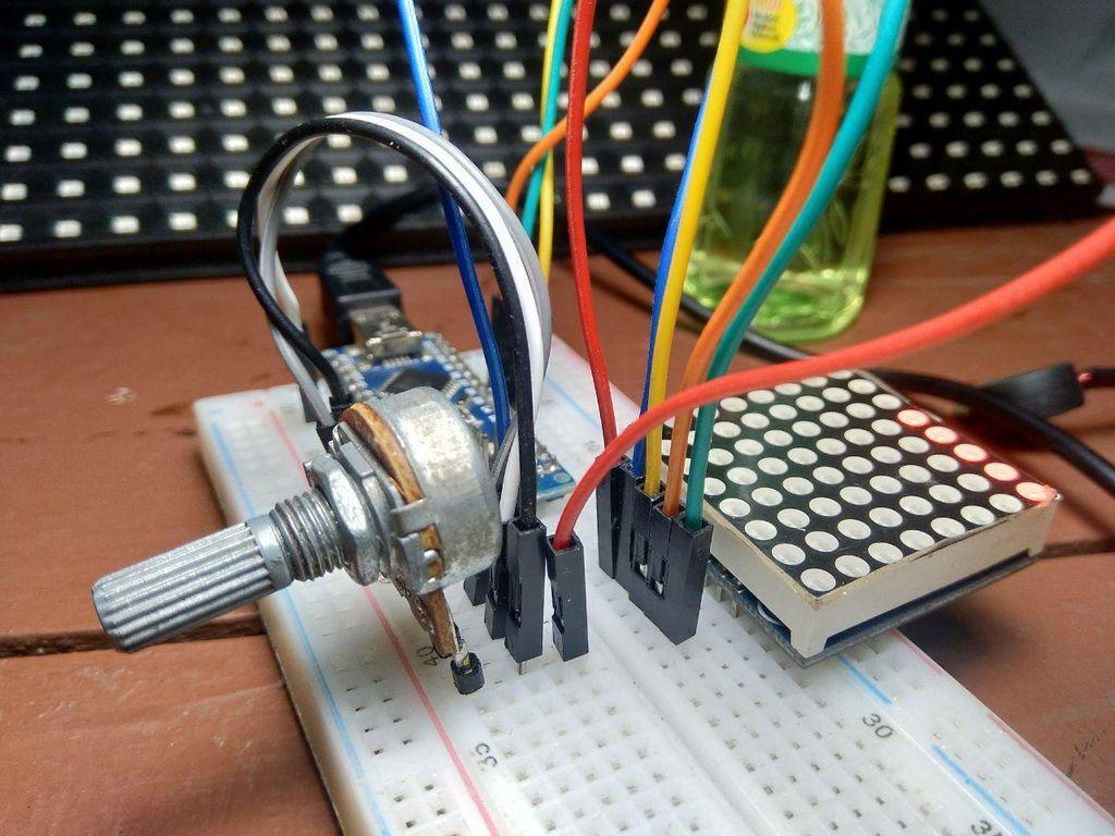 Picture of Arduino : Potentio Indicator Uses Led Matrix MAX7219