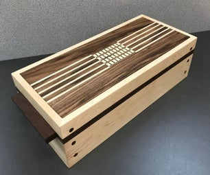Wooden Keep Sake Box With 4 Digit Magnetic Combination