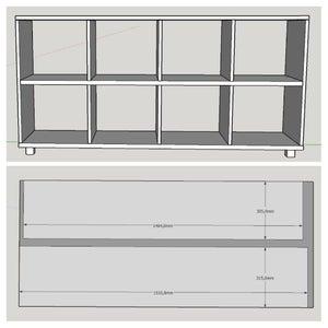 Storage Boxes Shelf