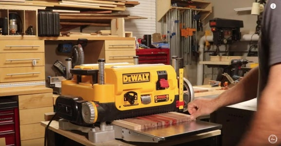 Run the Sled Through the Planer to Flatten Your Board