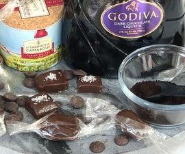 Dark Chocolate Espresso Caramels With Sea Salt