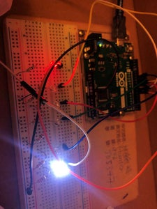Setting the Led and Wires on Breadboard