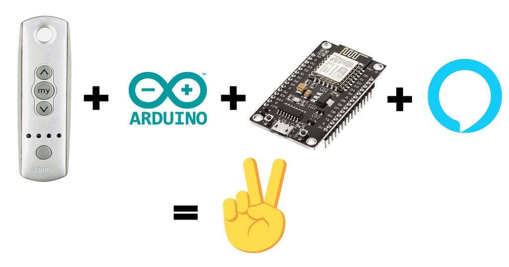 Picture of Comment Connecter Votre Télécommande SOMFY À Alexa Avec Un ESP8266 Pour Contrôler Vos Volets À La Voix ?