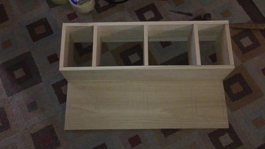 With Pin Nail, and Wood Glue, I Built the Inside Frame
