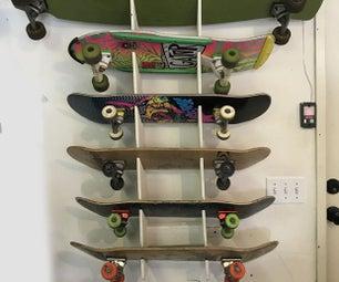Skateboard Wall Rack