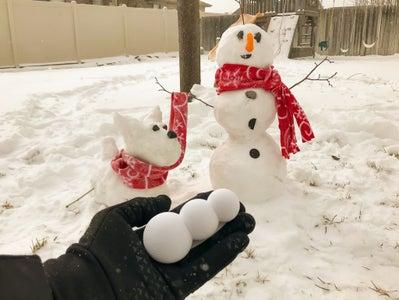 Snowman Poop Prank