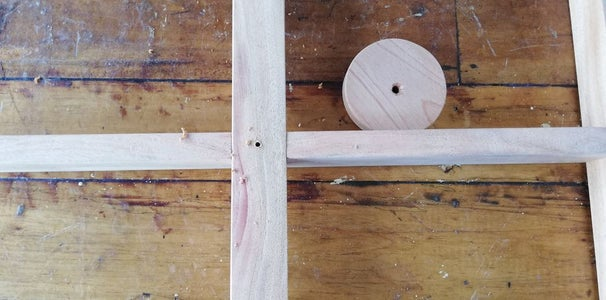 Screw the Wooden Cylinder to the Structure Created in the Previous Steps