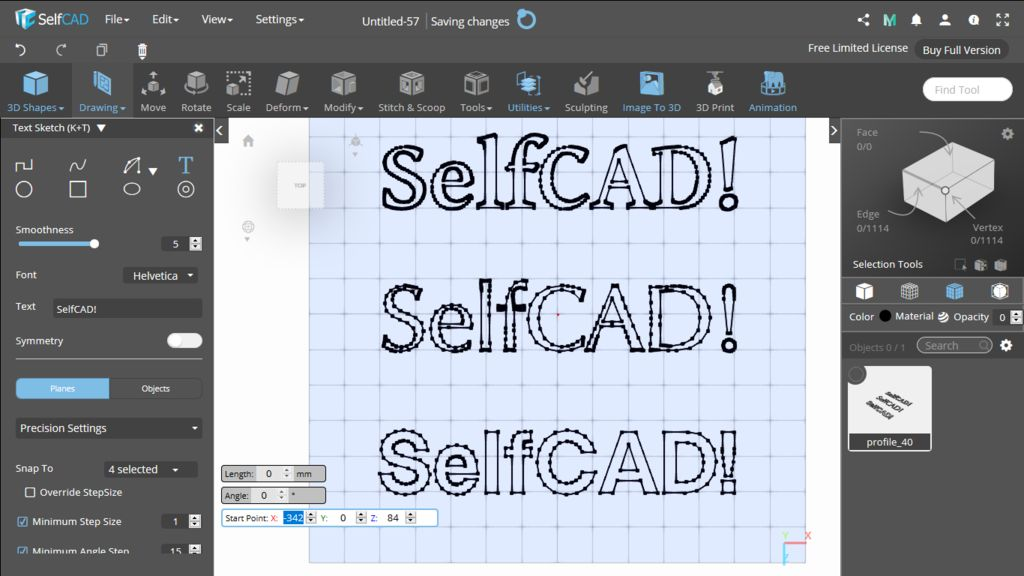 Picture of 3D Sketch: Text