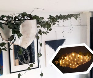 LED点亮悬挂花盆