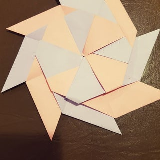 How To Make 8 Pointed Transforming Ninja Star - Step by Step ... | 320x320