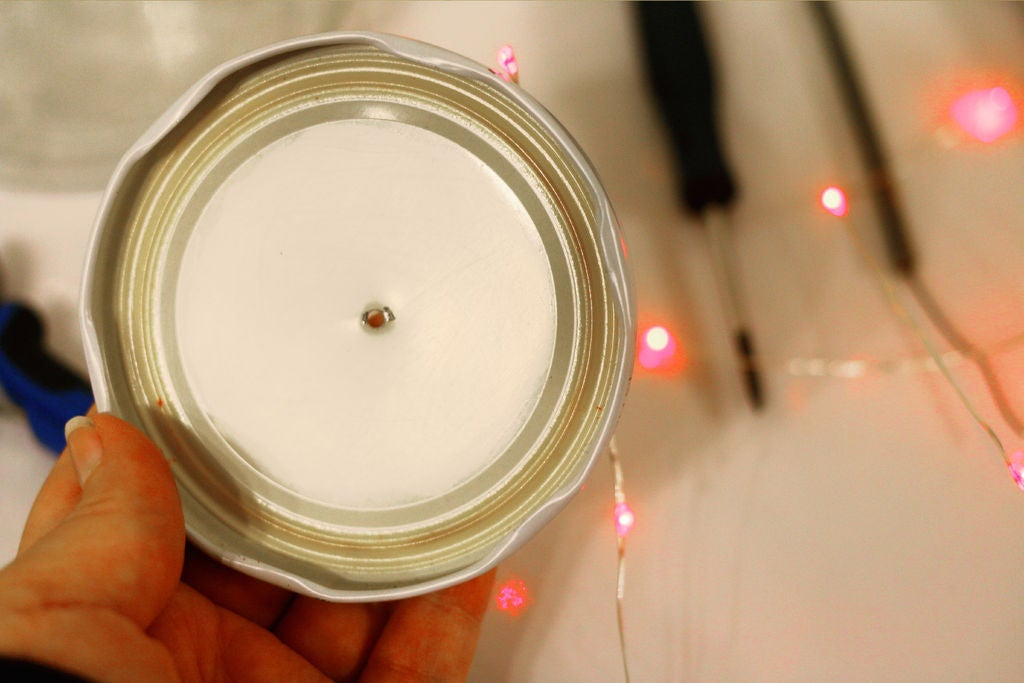 Picture of Make a Hole Big Enough to Pass the String of LED