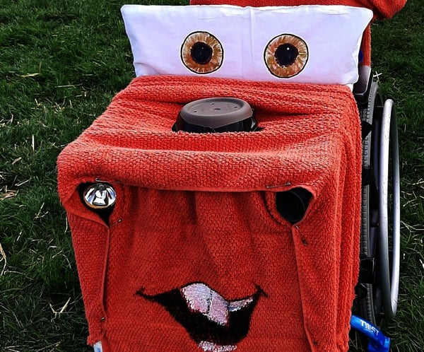 Tow Mater Costume for a Wheelchair