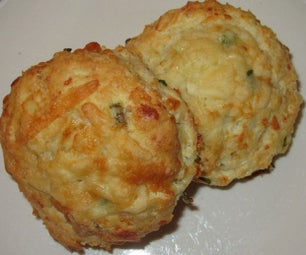 Simple Cheese & Chive Scones