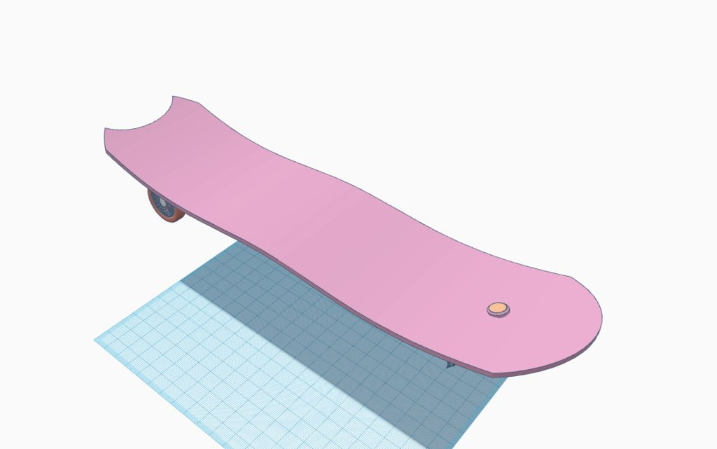 Picture of Flexible Steering to Skateboard at Large Angles.