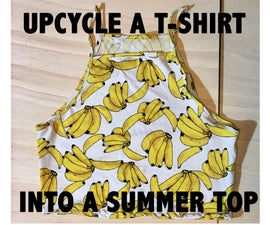 UPCYCLE a T-SHIRT INTO a SUMMER TOP USING AN EXISTING TOP AS a MODEL