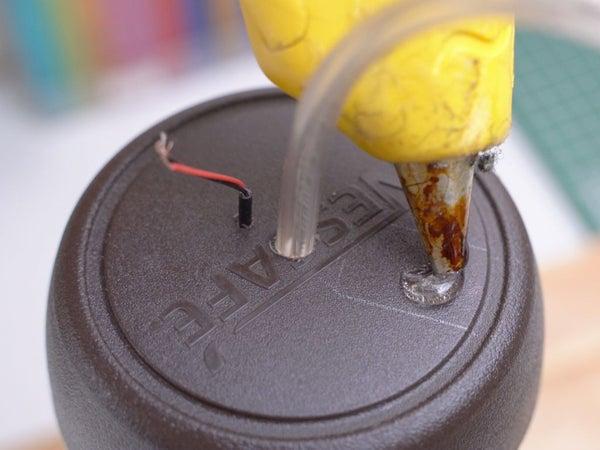 Cola quente, o sensor