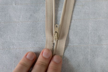Attaching the Zipper