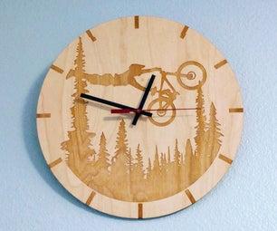 Custom Image Laser Cut Wood Clock
