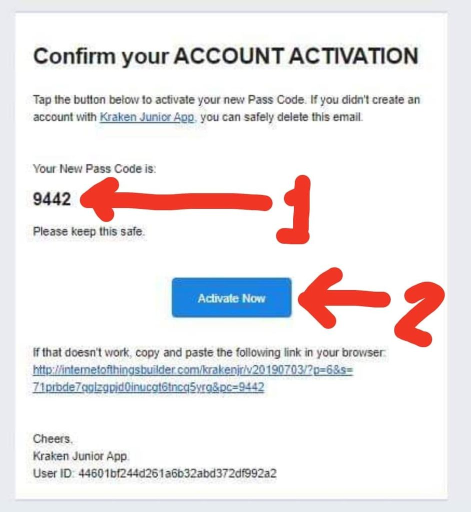 Picture of Email Activation Link
