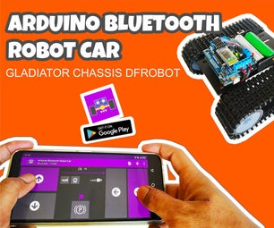 Arduino Robot Car Bluetooth Controlled and Programmed With Android - Gladiator Chassis DFRobot