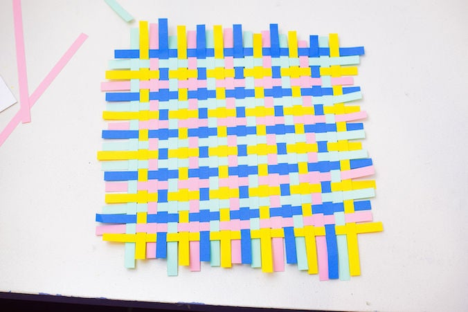 Picture of Complete the Weave Using All the Colours in the Order You Have Chosen