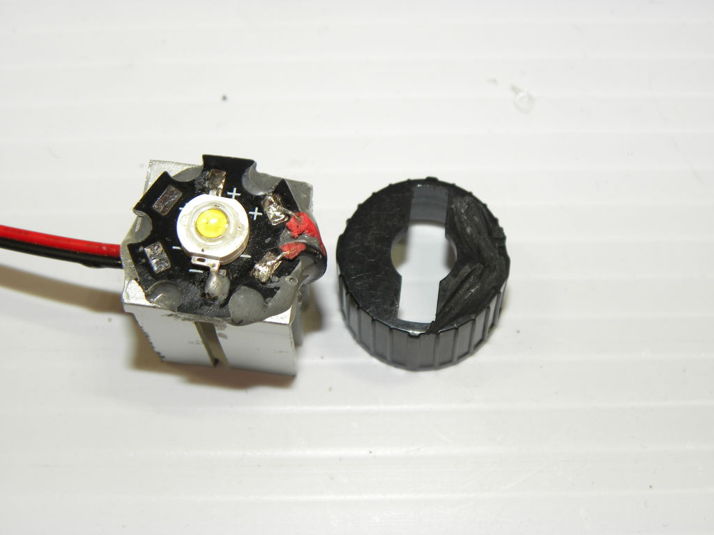 Picture of Attach Lens and Holder to LED