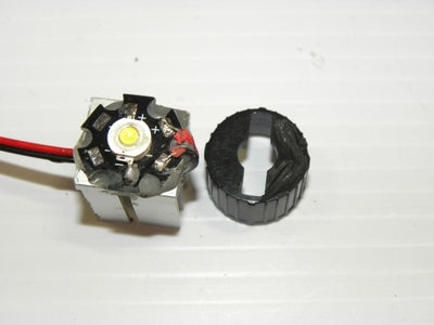Attach Lens and Holder to LED