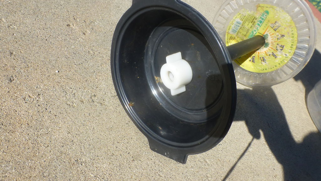 Picture of Drill Hole in the Bottom Plate and Bowl