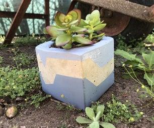 便宜又时尚的DIY混凝土花盆