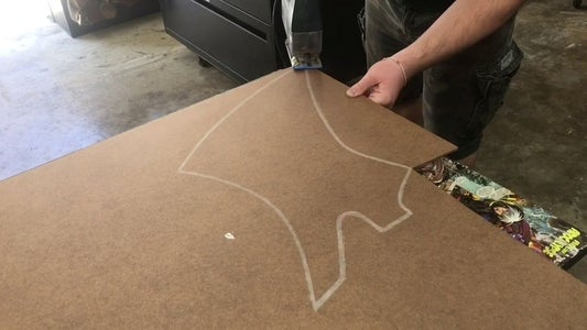 Trace and Cut Outline Template