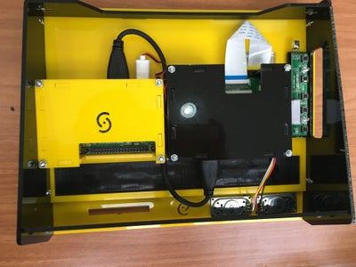 Mounting the Raspberry Pi and AV Driver