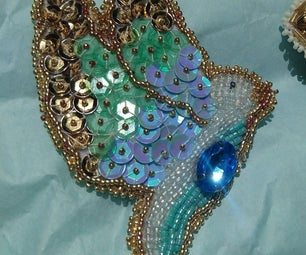 Bead Embroider a Bird Brooch!