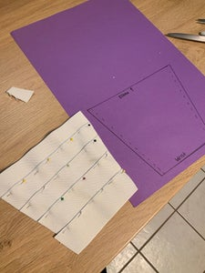 Cutting and Pinning the Elastic Strips