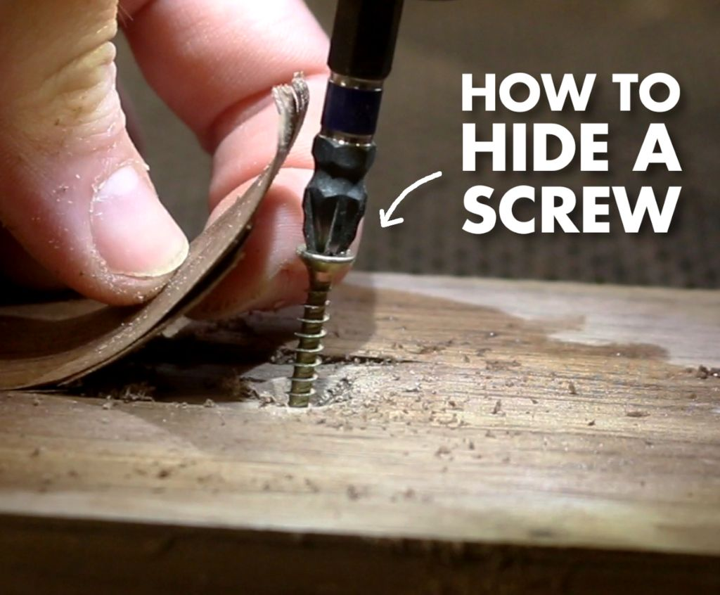 Picture of THE BEST Way to Hide a Screw in Wood!