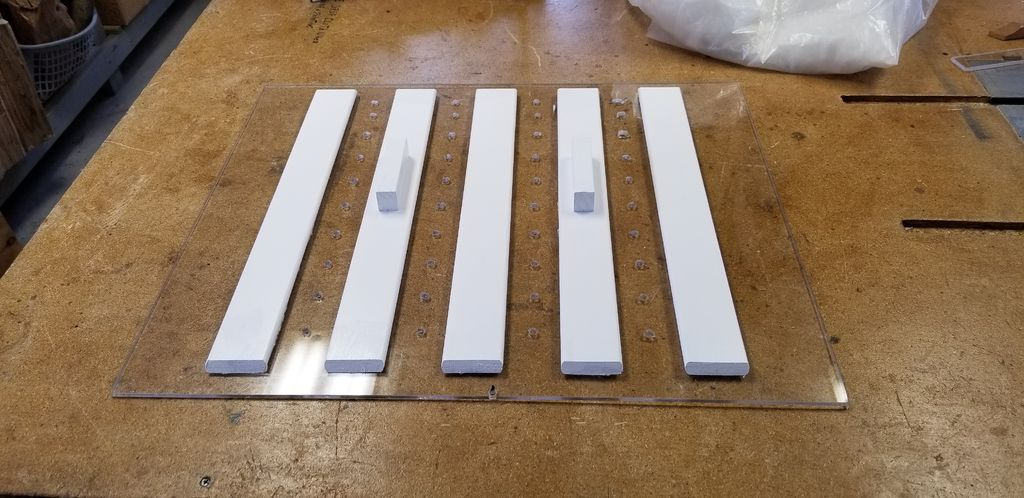 Picture of Glue the Slats to Plexiglass