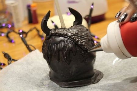 Finishing Touches to Our Maleficent Headpiece 😈