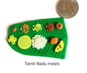 Tamil Nadu Meals Miniature Clay Craft